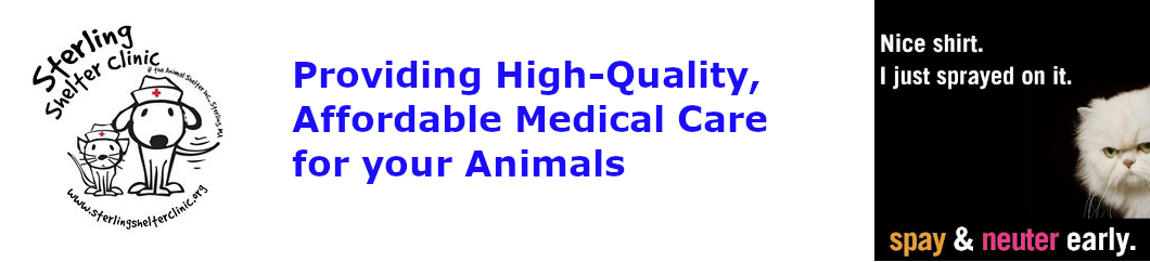 Sterling Animal Shelter Clinic Affordable Medical Care Banner